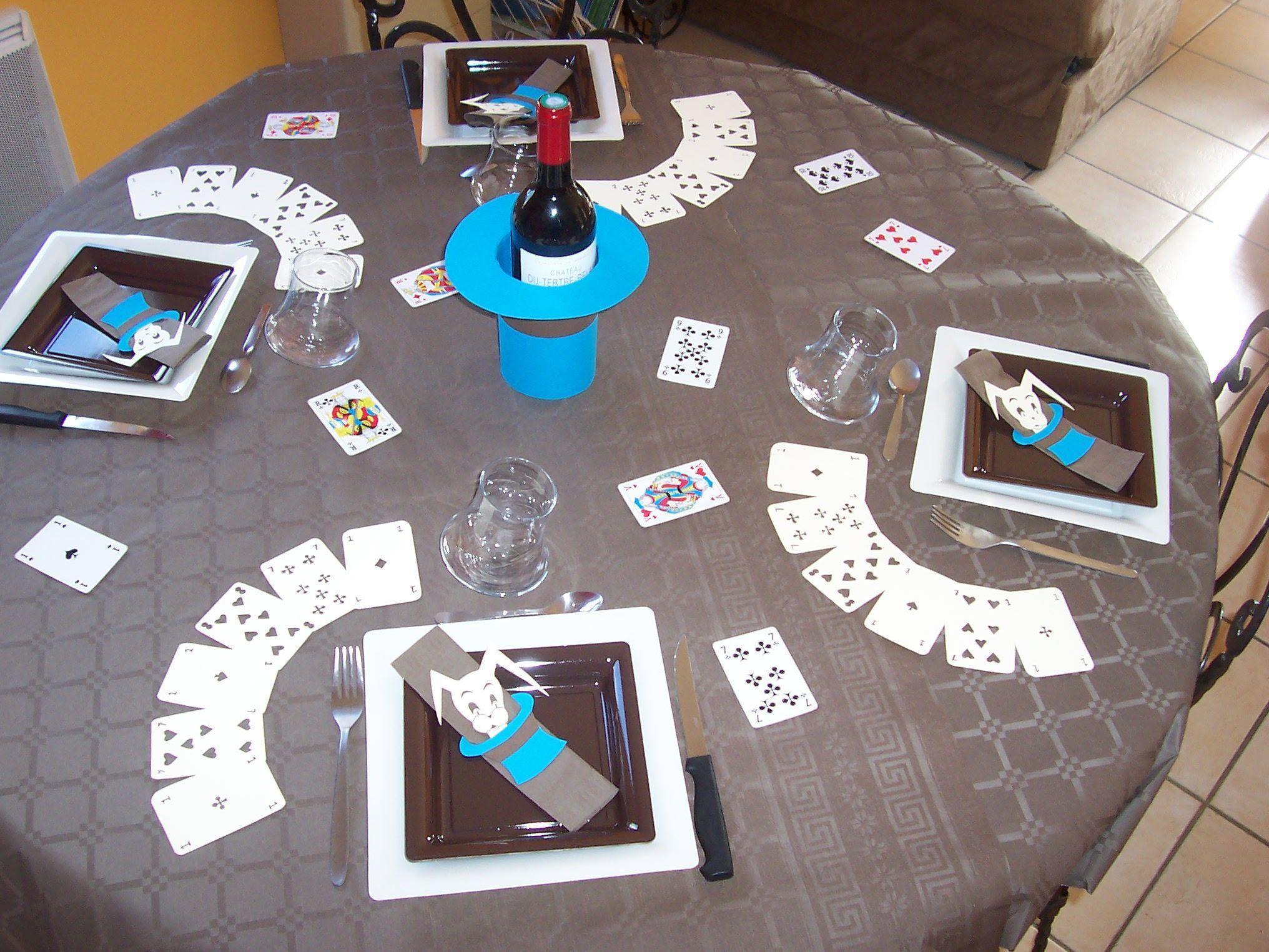 decoration de table magie