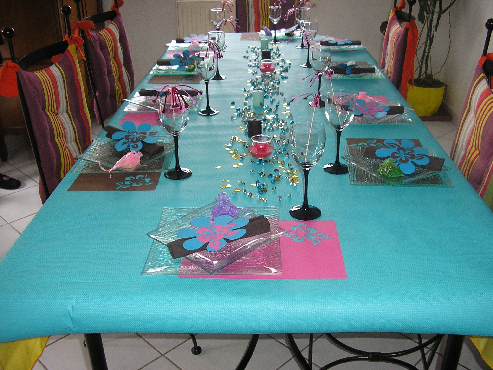 Decoration table anniversaire photograph deco table annive - Decoration de table anniversaire 20 ans ...